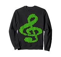 Music Note Shamrock Funny St Saint Patrick S Day T Shirt Sweatshirt Black
