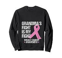 Breast Cancer Awareness Month Grandmas Fight Grandma Gift T Shirt Sweatshirt Black
