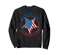 Honor The Fallen Thank The Living Veteran's Day Gift Tee Premium T-shirt Sweatshirt Black