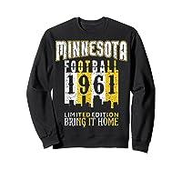 Minnesota 1961 Skyline Throwback Football Shirts Sweatshirt Black
