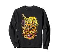 Cool And Creative Zombie Donald Trump T-shirt Sweatshirt Black