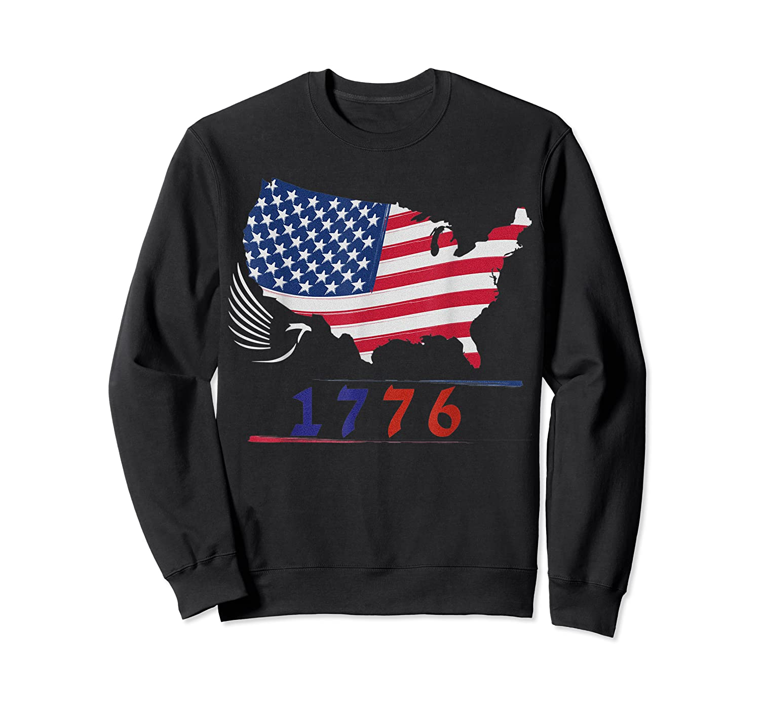 B Ross 1776 American Flag Eagle 4th Of July Shirts Crewneck Sweater