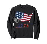 B Ross 1776 American Flag Eagle 4th Of July Shirts Sweatshirt Black