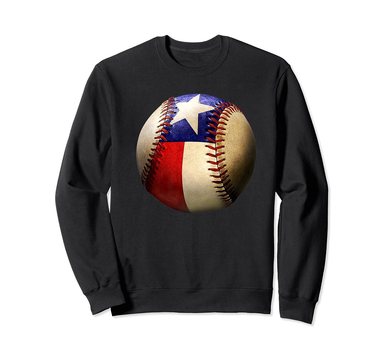 Texas Flag Baseball Game Apparel Gift Great State Of Texas Premium T-shirt Crewneck Sweater