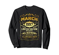 March 1997 Vintage 22nd Birthday 22 Years Old Gif Shirts Sweatshirt Black