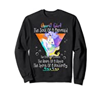 April Girl The Soul Of A Mermaid The Fire Of A Lioness Shirts Sweatshirt Black