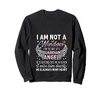 I Am Not A Widow I Am The Wife Of A Guardian Angel Butterfly Shirts Sweatshirt Black