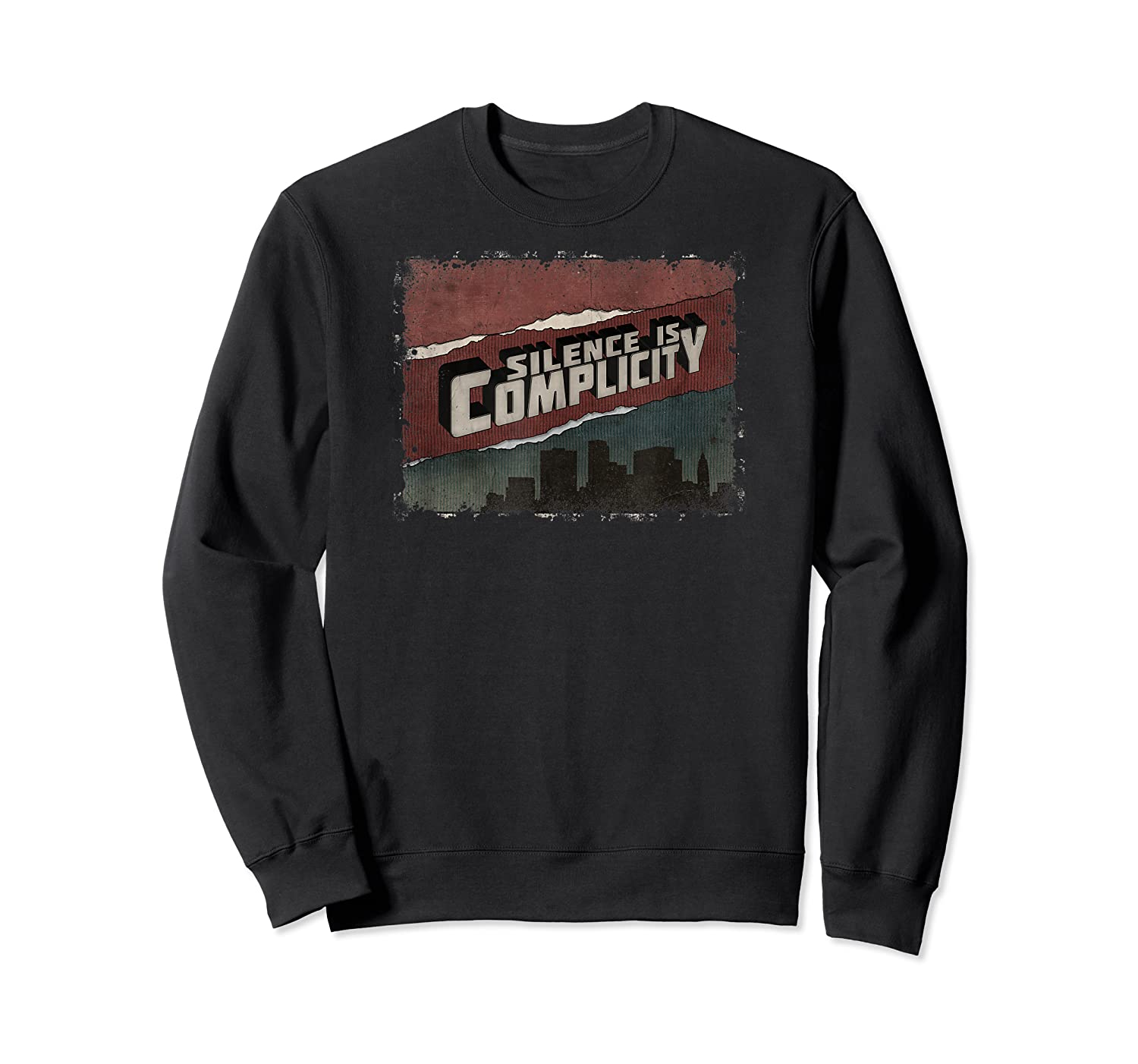 Silence Is Complicity Not My President Impeach Anti Trump T Shirt Crewneck Sweater