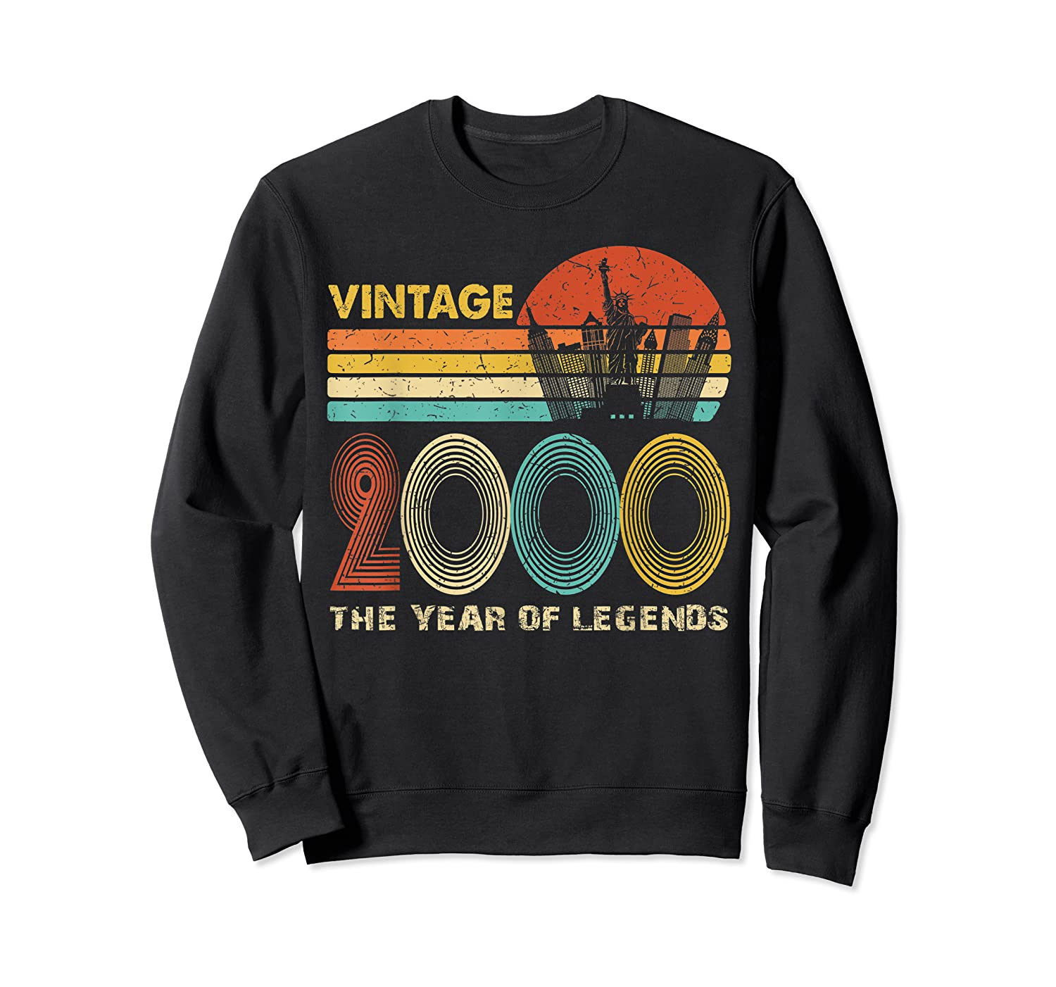 19th Birthday Gift Vintage 2000 T-shirt 19 Years Old T-shirt Crewneck Sweater