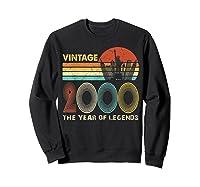 19th Birthday Gift Vintage 2000 T-shirt 19 Years Old T-shirt Sweatshirt Black