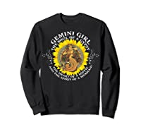 Gemini Girl The Soul Of A Mermaid Tshirt Birthday Gifts Sweatshirt Black