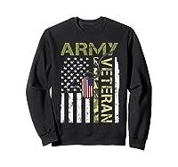 American Flag Camo Proud Us Army Veteran T-shirt Sweatshirt Black