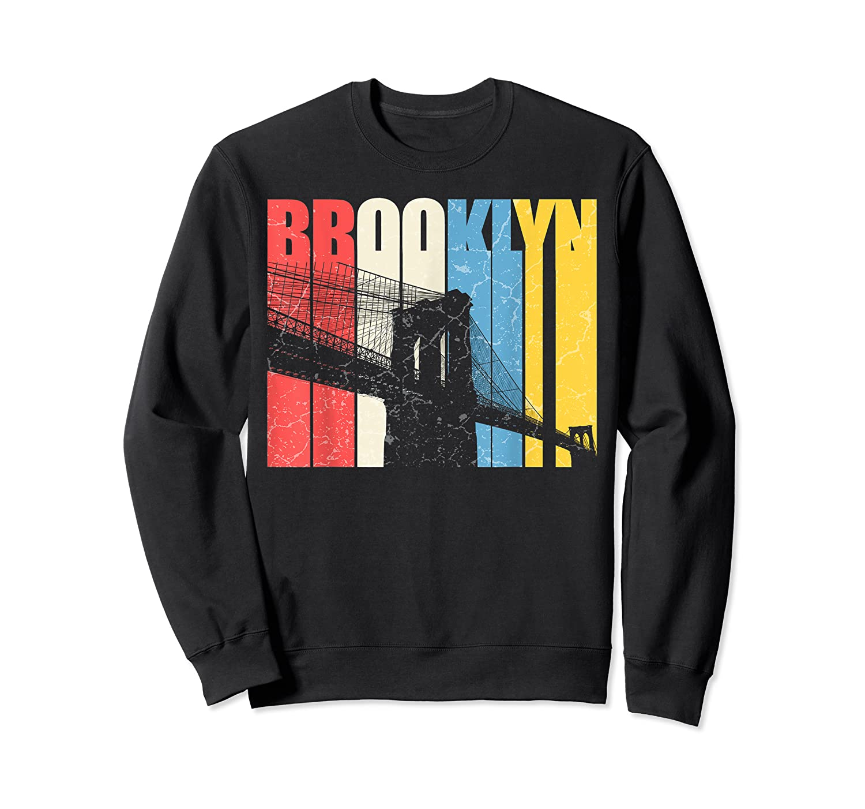 Vintage Brooklyn New York Skyline Retro Ny Shirt Gift Tee Crewneck Sweater