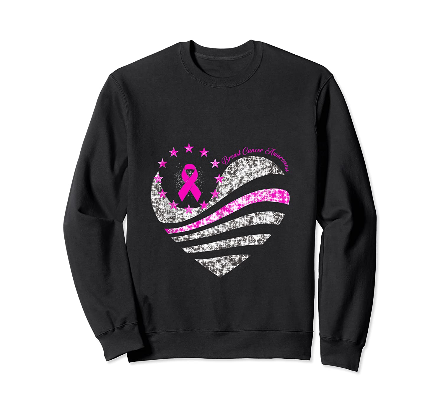 Funny Love Heart Breast Cancer Awareness Pink Ribbon Month Tank Top Shirts Crewneck Sweater