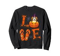 Love Beagle Pumpkin Halloween T-shirt Halloween Gifts Sweatshirt Black
