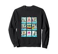 The Look Of Spongebob Characters Shirts Sweatshirt Black