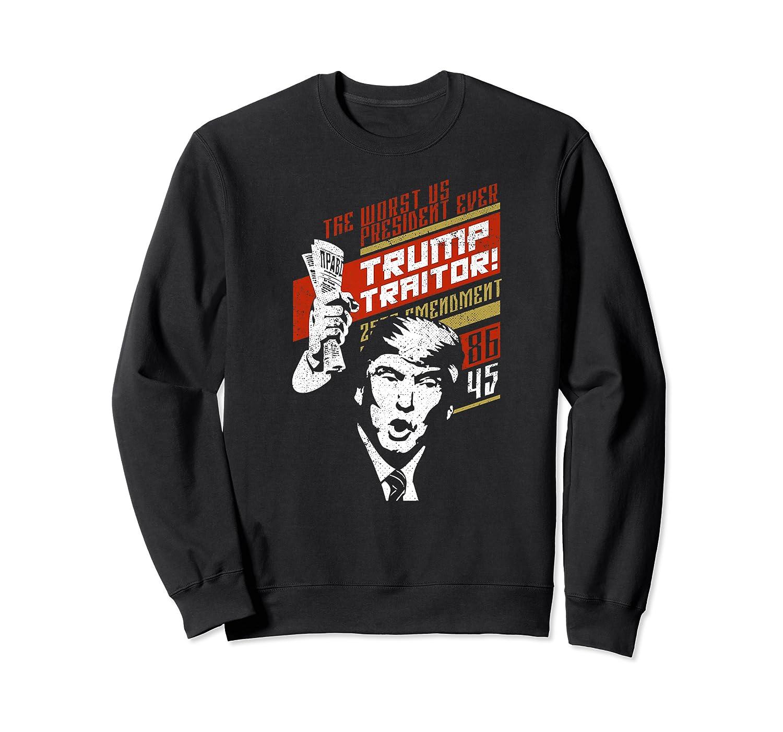 Soviet Vintage 86 45 Impeach Trump Traitor Premium T Shirt Crewneck Sweater