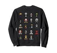 Friends Cartoon Halloween Character Scary Horror Movies T Shirt Sweatshirt Black