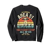 Area 51 5k Fun Run Shirt. Retro Style Funny Ufo, Alien T-shirt Sweatshirt Black