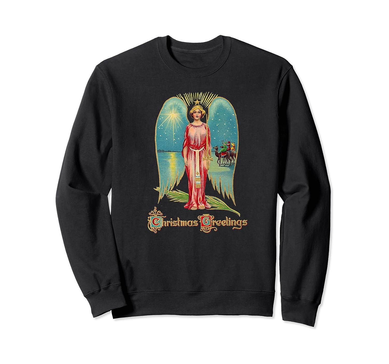 Christmas Angel Magi Three Wise Premium T-shirt Crewneck Sweater