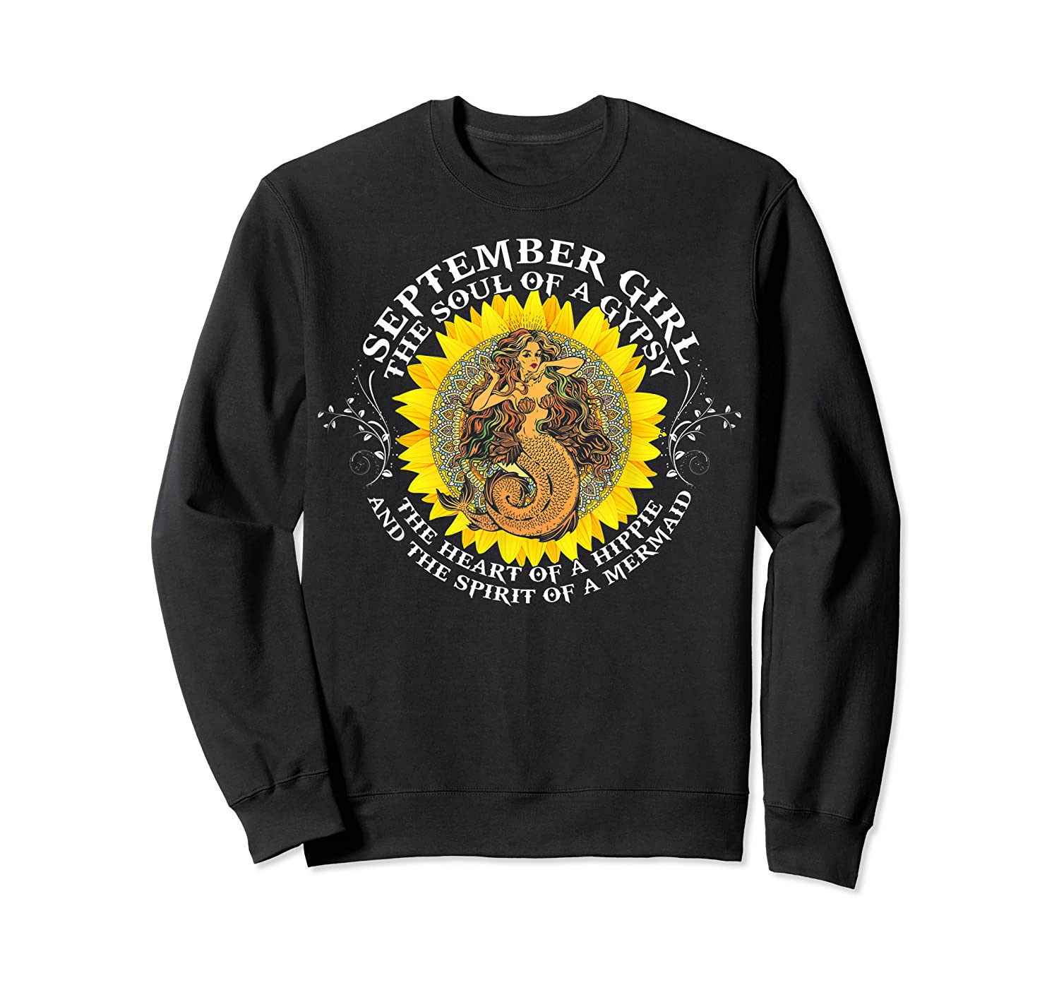 September Girl The Soul Of A Mermaid Tshirt Birthday Gifts Crewneck Sweater
