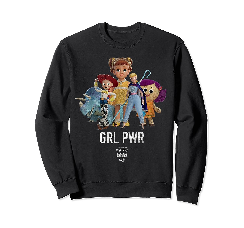 Disney Pixar Toy Story 4 Grl Pwr Distressed T-shirt Crewneck Sweater