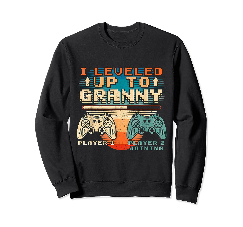 Leveled Up To Granny Vintage Gamer Promoted Shirts Crewneck Sweater