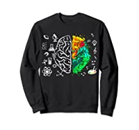 Colorful Brain Science And Art Love Science Art Gifts T Shirt Sweatshirt Black