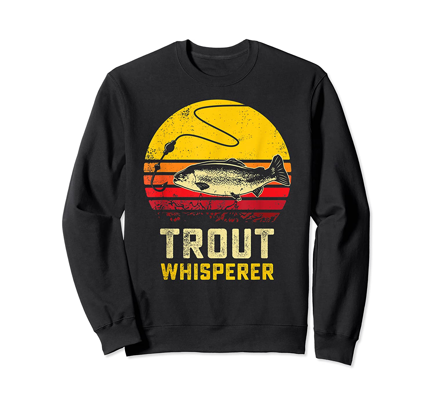 Trout Fishing Brook, Brown, Rainbow Trout Fish Gift Shirts Crewneck Sweater