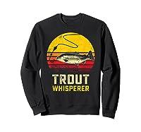 Trout Fishing Brook, Brown, Rainbow Trout Fish Gift Shirts Sweatshirt Black