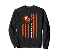 Oklahoma State Cow Nation Flag Apparel Shirts Sweatshirt Black