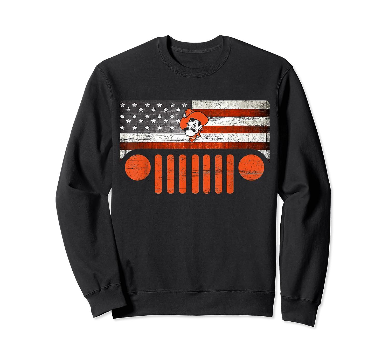 Oklahoma State Cow Nation Flag Apparel T Shirt Crewneck Sweater