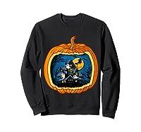 Funny Pumpkin Vintage Halloween Pumpkin Costume Shirts Sweatshirt Black