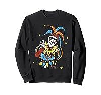 Joker Playing Card Halloween Costume Wild Card Shirts Sweatshirt Black