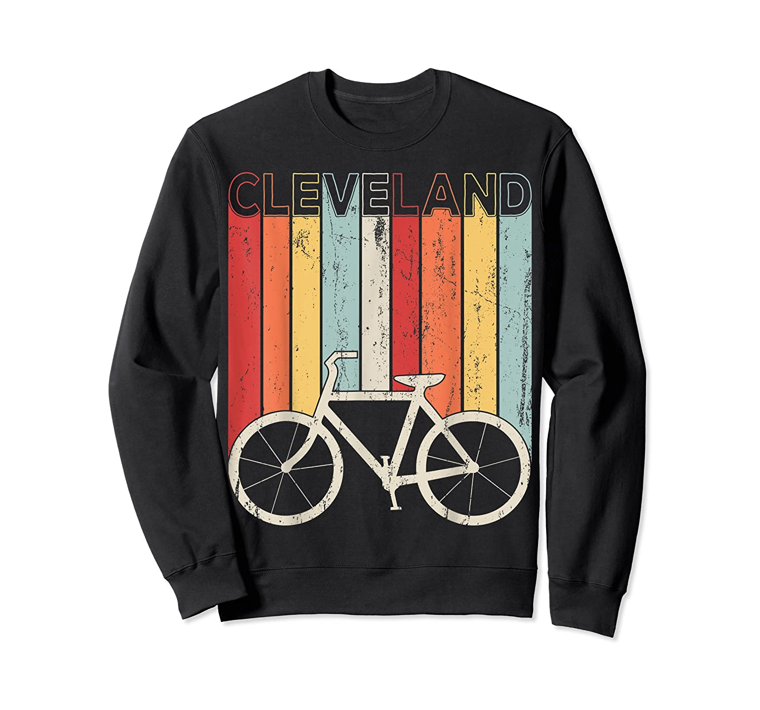 Retro Vintage Cleveland City Cycling Shirt For Cycling Lover Crewneck Sweater