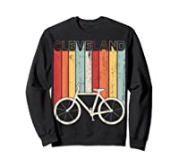 Retro Vintage Cleveland City Cycling Shirt For Cycling Lover Sweatshirt Black