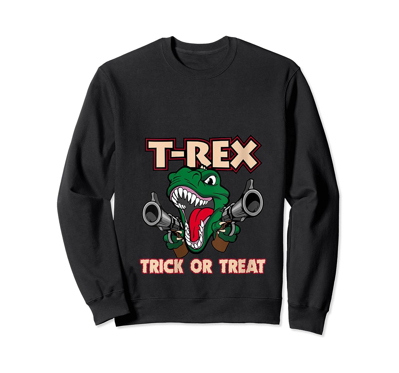 T Rex Arms Trick Or Treat Halloween Shirts Crewneck Sweater
