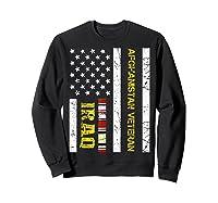 Proud Iraq Afghanistan Veteran Flag Gifts For Veteran Day T Shirt Sweatshirt Black