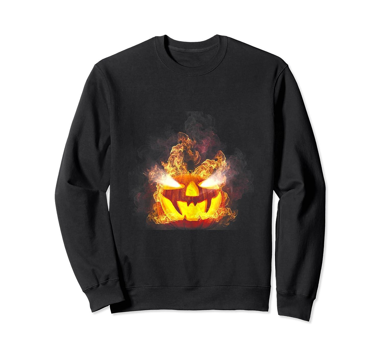 Happy Halloween Pumpkin Face Cartoon Funny Shirts Crewneck Sweater