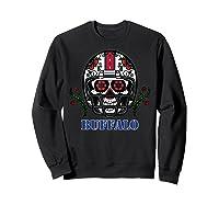 Buffalo Football Helmet Sugar Skull Day Of The Dead T Shirt Sweatshirt Black