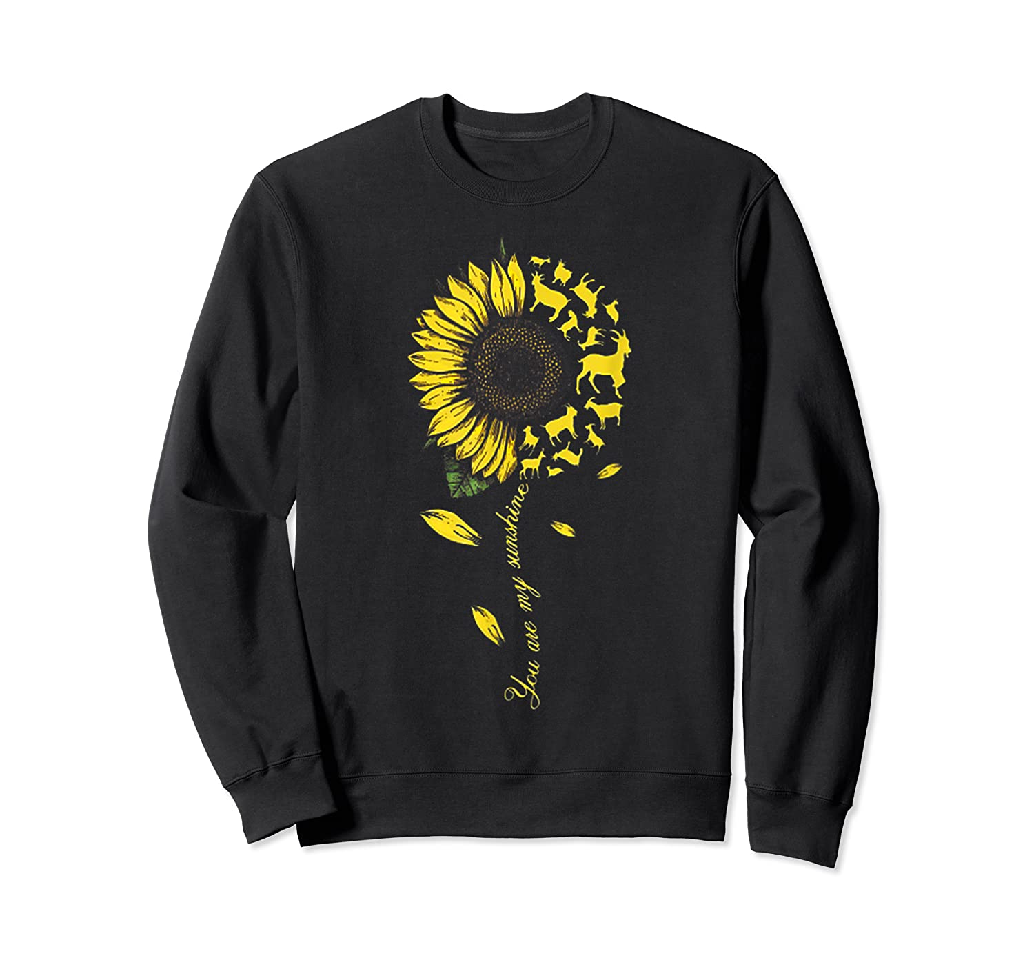 You Are My Sunshine Sunflower Goat For Woman Shirts Crewneck Sweater