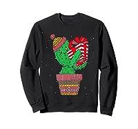 Cactus Christmas Tree Gift Santa Xmas Succulent Plant Lover T-shirt Sweatshirt Black