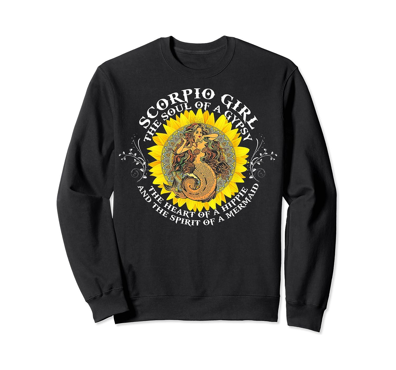 Scorpio Girl The Soul Of A Mermaid Tshirt Birthday Gifts Crewneck Sweater