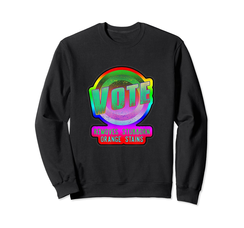 Anti Trump Vote Detergent Funny Watercolor Vintage T Shirt Crewneck Sweater