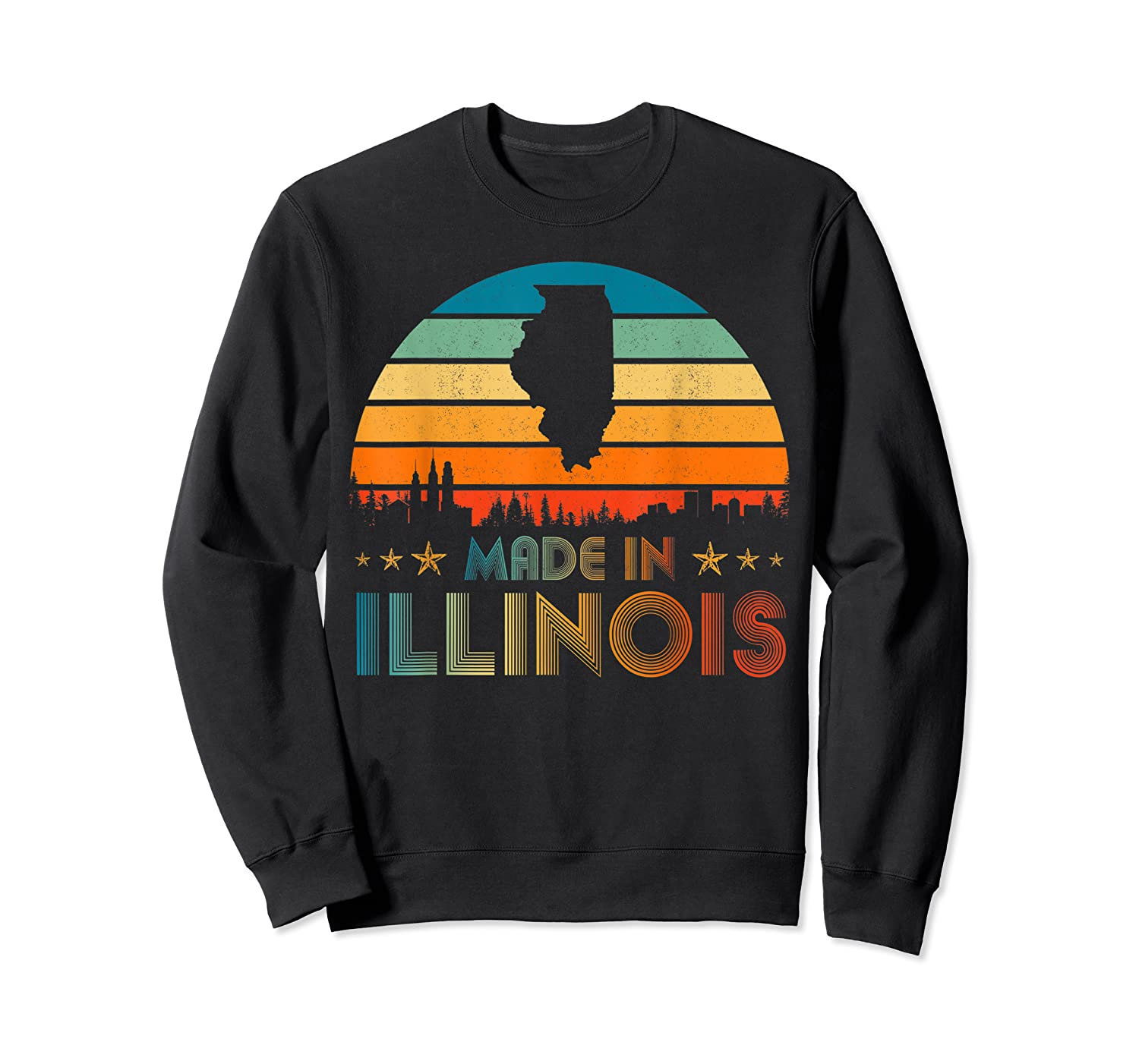 Vintage Made In Illinois Shirts Crewneck Sweater