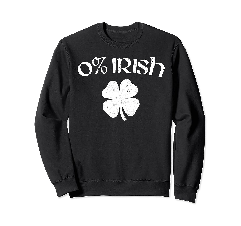 0% Irish Vintage Style Funny St Patricks Day Clover Sweatshirt-Colonhue