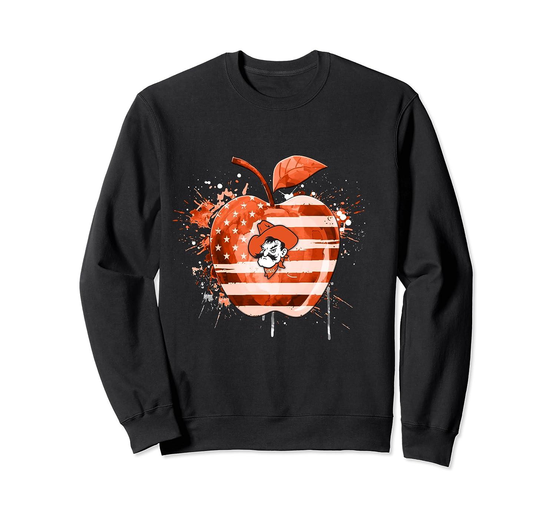 Oklahoma State Cow Nation Flag T Shirt Crewneck Sweater