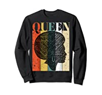 African American Queen T Shirt Black History Urban Soul Tees Sweatshirt Black