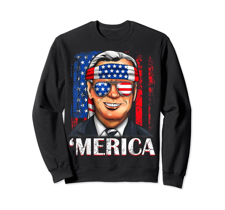 Joe Biden 2020 Merica 4th Of July Independence Day Usa T Shirt Crewneck Sweater