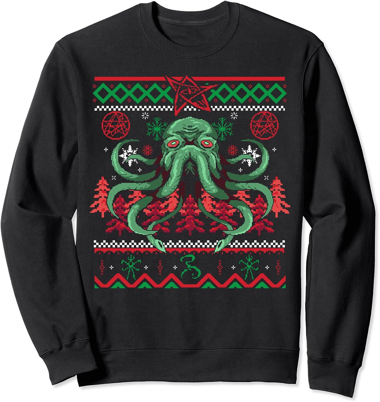 Phoenix Mall Festive Cthulhu - Holiday Sweatshirt Lovecraftian Tulsa Mall